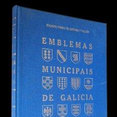 Libros de segunda mano: EMBLEMAS MUNICIPALES DE GALICIA. EDUARDO PARDO DE GUEVARA Y VALDES. XUNTA DE GALICIA 1999. Lote 146505114