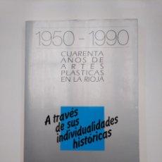 Libros de segunda mano: 1950-1990. CUARENTA AÑOS DE ARTES PLÁSTICAS EN LA RIOJA. A TRAVÉS DE SUS INDIVIDUALIDADES. TDK357IER. Lote 146567818