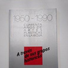 Libros de segunda mano: 1950-1990. CUARENTA AÑOS DE ARTES PLÁSTICAS EN LA RIOJA A TRAVES DE SUS GRUPOS HISTORICOS TDK357IER . Lote 146568246