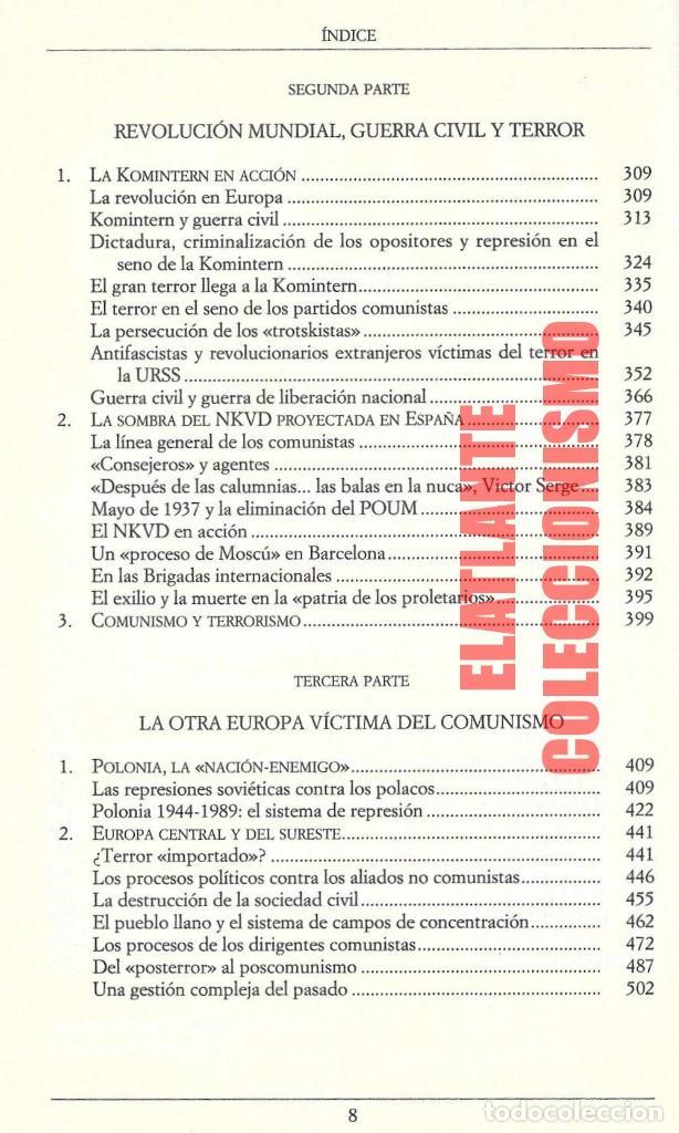 Libros de segunda mano: EL LIBRO NEGRO DEL COMUNISMO - CRÍMENES, TERROR Y REPRESIÓN - COURTOIS - URSS CHINA ESPAÑA CAMBOYA - Foto 6 - 146598858