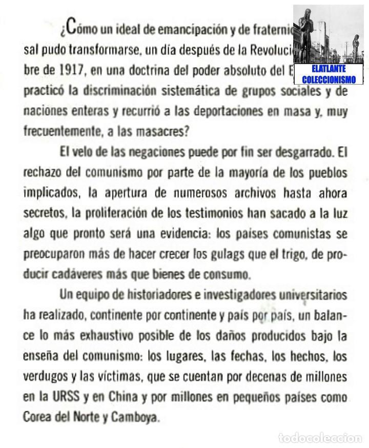 Libros de segunda mano: EL LIBRO NEGRO DEL COMUNISMO - CRÍMENES, TERROR Y REPRESIÓN - COURTOIS - URSS CHINA ESPAÑA CAMBOYA - Foto 8 - 146598858