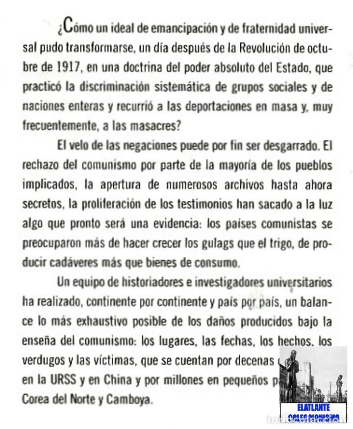 Libros de segunda mano: EL LIBRO NEGRO DEL COMUNISMO - CRÍMENES, TERROR Y REPRESIÓN - COURTOIS - URSS CHINA ESPAÑA CAMBOYA - Foto 9 - 146598858