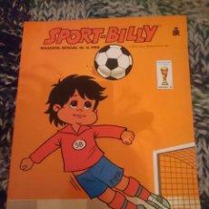 Libros de segunda mano: LIBRO PARA COLOREAR - SPORT BILLY - MASCOTA OFICIAL DE LA FIFA - 1981 -SIN USAR . Lote 146812154
