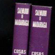 Libros de segunda mano: COSAS Y GENTES. SALVADOR DE MADARIAGA. DOS TOMOS. Lote 146821734