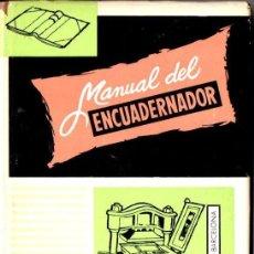 Libros de segunda mano: MANUAL DEL ENCUADERNADOR, DORADOR Y PRENSISTA (SALESIANA, 1966). Lote 146902366