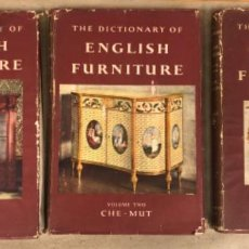 Libros de segunda mano: THE DICTIONARY OF ENGLISH FURNITURE. COUNTRY LIFE LIMITED 1954. 3 TOMOS.. Lote 146921466