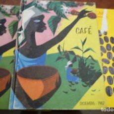 Libros de segunda mano: CAFE. 1960-1962-1970,CLASIFICACIONES,CURIOSIDADES, LEGISLACION,ESTADISTICA, 27X20 CARTON 200 PP APRO. Lote 147077630