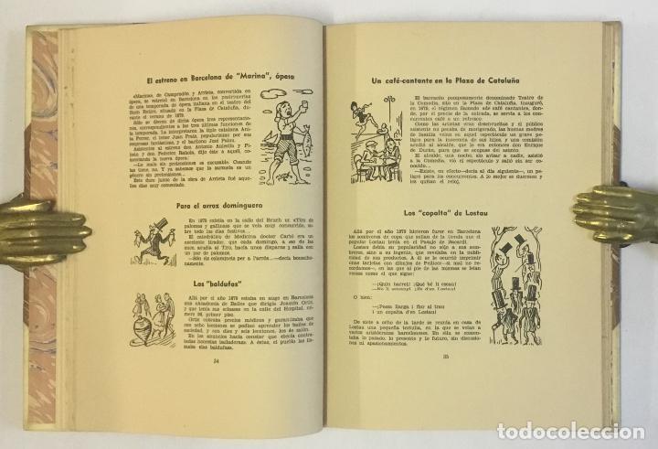 Libros de segunda mano: ANECDOTARIO BARCELONÉS OCHOCENTISTA... EDICIÓN DE 100 EJEMPLARES EN PAPEL DE HILO. BRUGALLA - Foto 4 - 147202830