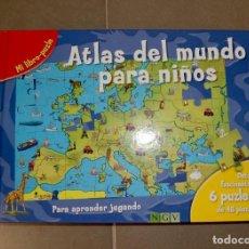 Libros de segunda mano: ATLAS DEL MUNDO PARA NIÑOS LIBROPUZZLE. Lote 147307114