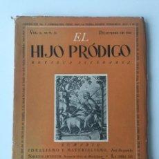 Libros de segunda mano: EL HIJO PRÓDIGO REVISTA LITERARIA - MÉXICO - VOL . X NUM. 33 , AÑO 1945. Lote 147406766