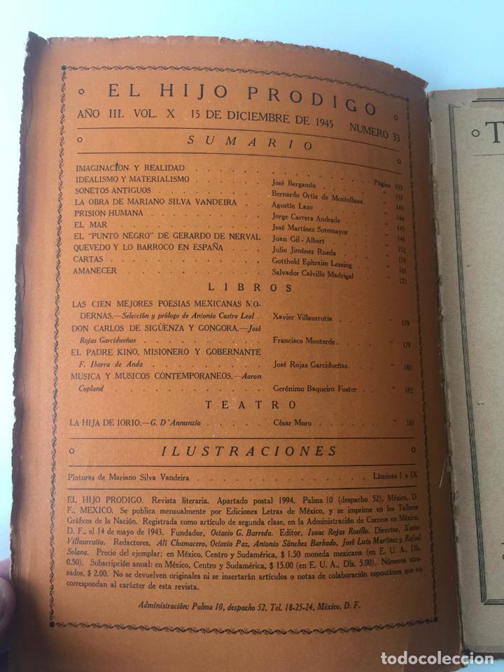 Libros de segunda mano: EL HIJO PRÓDIGO REVISTA LITERARIA - MÉXICO - VOL . X NUM. 33 , AÑO 1945 - Foto 2 - 147406766