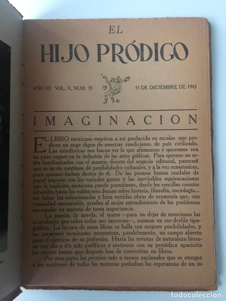 Libros de segunda mano: EL HIJO PRÓDIGO REVISTA LITERARIA - MÉXICO - VOL . X NUM. 33 , AÑO 1945 - Foto 3 - 147406766