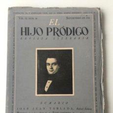 Libros de segunda mano: EL HIJO PRÓDIGO REVISTA LITERARIA - MÉXICO - VOL . IX NUM. 30 , AÑO 1945. Lote 147406886