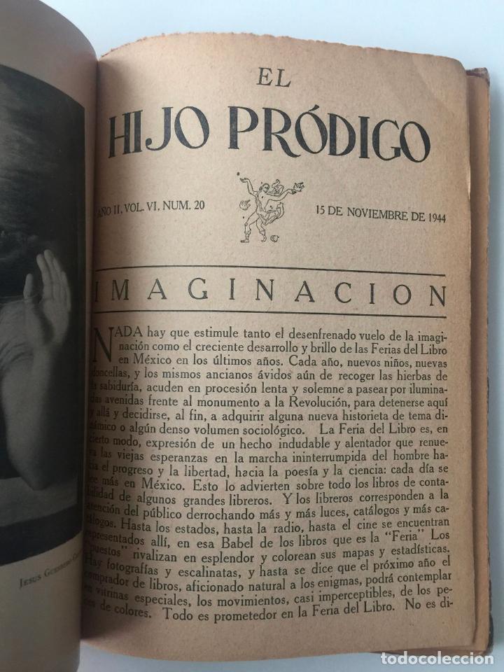 Libros de segunda mano: EL HIJO PRÓDIGO REVISTA LITERARIA - MÉXICO - VOL . VI NUM. 20 , AÑO 1944 - Foto 3 - 147407078