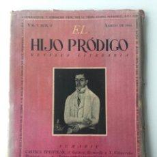 Libros de segunda mano: EL HIJO PRÓDIGO REVISTA LITERARIA - MÉXICO - VOL . V NUM. 17 , AÑO 1944. Lote 147407322
