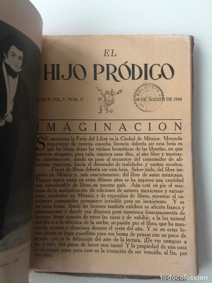Libros de segunda mano: EL HIJO PRÓDIGO REVISTA LITERARIA - MÉXICO - VOL . V NUM. 17 , AÑO 1944 - Foto 3 - 147407322
