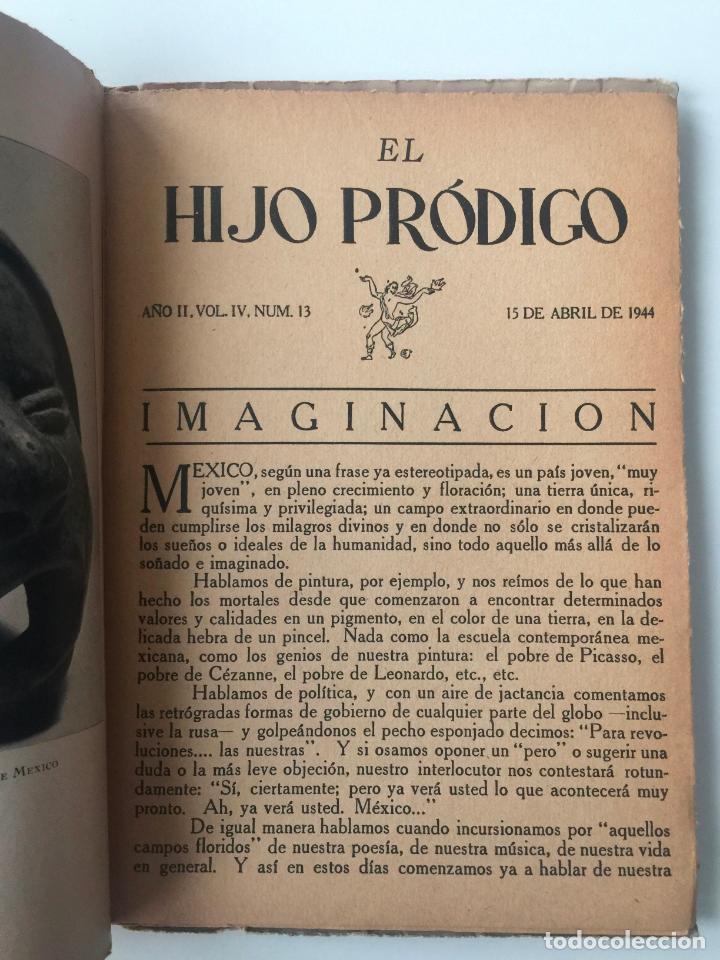 Libros de segunda mano: EL HIJO PRÓDIGO REVISTA LITERARIA - MÉXICO - VOL . IV NUM. 13 , AÑO 1944 - Foto 3 - 147407450