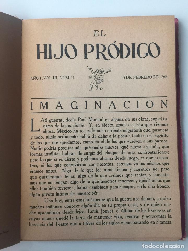Libros de segunda mano: EL HIJO PRÓDIGO REVISTA LITERARIA - MÉXICO - VOL . III NUM. 11 , AÑO 1944 - Foto 3 - 147407650