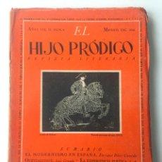 Libros de segunda mano: EL HIJO PRÓDIGO REVISTA LITERARIA - MÉXICO - VOL . II NUM. 9 , AÑO 1943. Lote 147407814