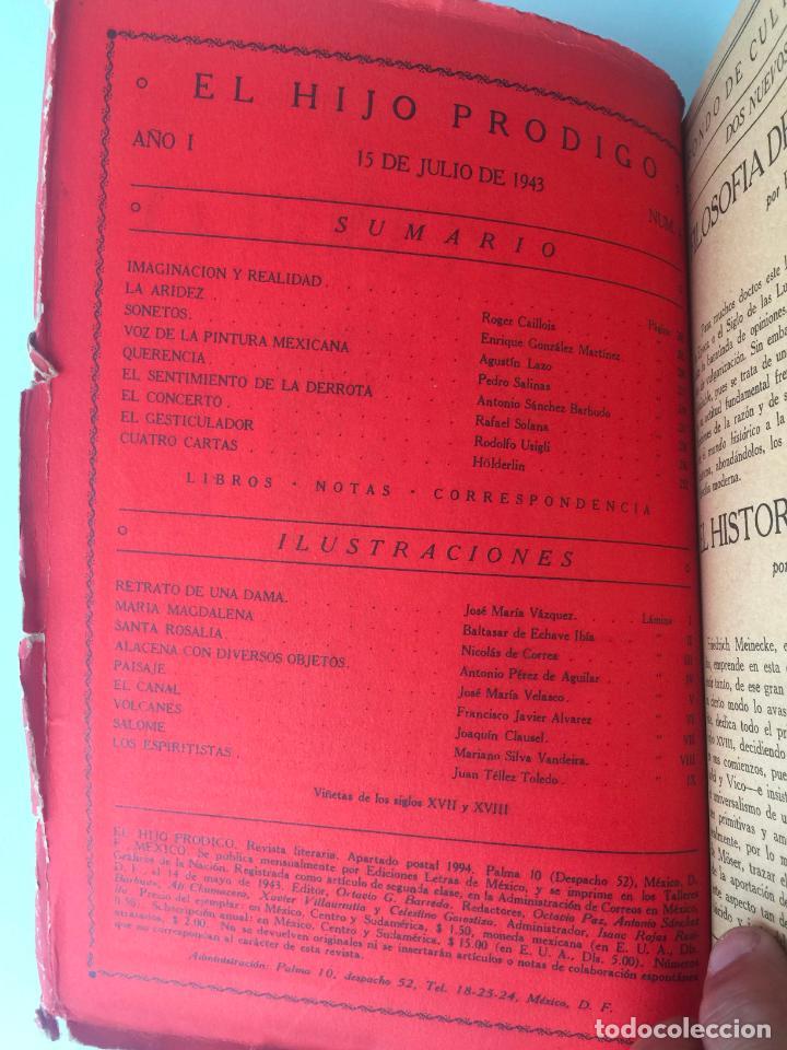 Libros de segunda mano: EL HIJO PRÓDIGO REVISTA LITERARIA - MÉXICO - AÑO I NUM. 4 , AÑO 1943 - Foto 2 - 147408102