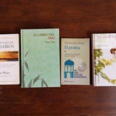 Libros de segunda mano: 4 LIBROS: EL LIBRO DEL TAO, FENG SHUI LOS MENSAJES DE LOS SABIOS, EL PROFETA. Lote 147537450
