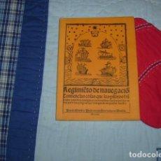 Libros de segunda mano: REGIMIENTO DE NAVEGACION , PEDRO DE MEDINA VECINO DE SEVILLA. Lote 147575002