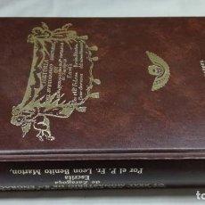 Libros de segunda mano: HISTORIA SUBTERRANEO SANTUARIO MONASTERIO SANTA ENGRACIA ZARAGOZA/ LEON BENITO MARTON/ FACSIMI. Lote 147681006