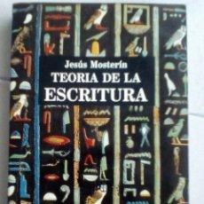 Libros de segunda mano: TEORÍA DE LA ESCRITURA - JESÚS MOSTERÍN - ICARIA. Lote 160216602
