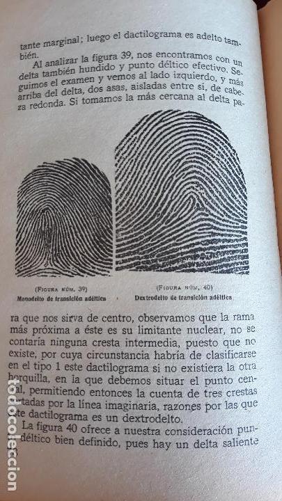Libros de segunda mano: DACTILOSCOPIA. M R ALVAREZ LUIS PLANELLES. 1939 - Foto 2 - 147845642