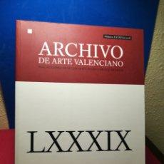 Libros de segunda mano: ARCHIVO DE ARTE VALENCIANO LXXXIX AÑO 2008 - REAL ACADEMIA BELLAS ARTES SAN CARLOS. Lote 147845861