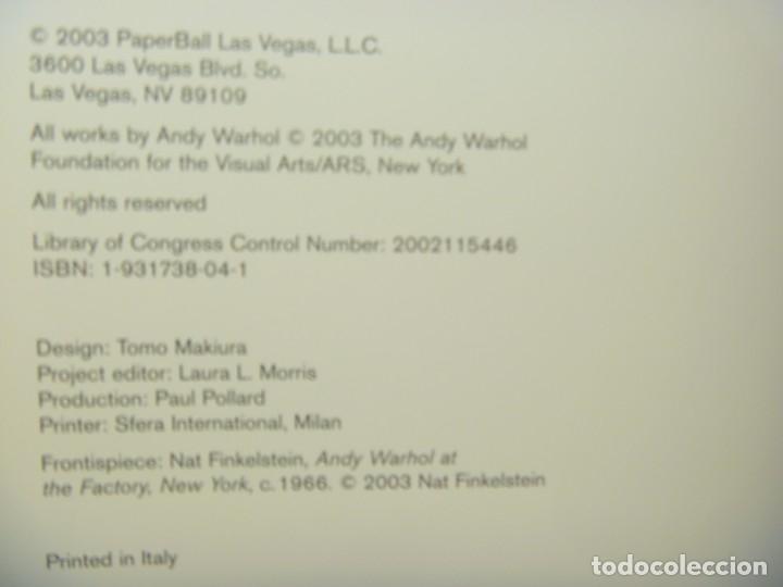 Libros de segunda mano: ANDY WARHOL GALERÍA LAS VEGAS EDICIÓN COLECCIONISTA MÁS REGALO LISA MINNELLI PÓSTER - Foto 5 - 148063426