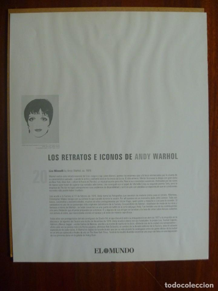 Libros de segunda mano: ANDY WARHOL GALERÍA LAS VEGAS EDICIÓN COLECCIONISTA MÁS REGALO LISA MINNELLI PÓSTER - Foto 19 - 148063426