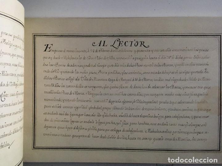 Libros de segunda mano: Chorographia del Río Tajo . 2 Volumenes. Reproduccion facsimilar del mms Chorographia del Río Tajo - Foto 7 - 148100258