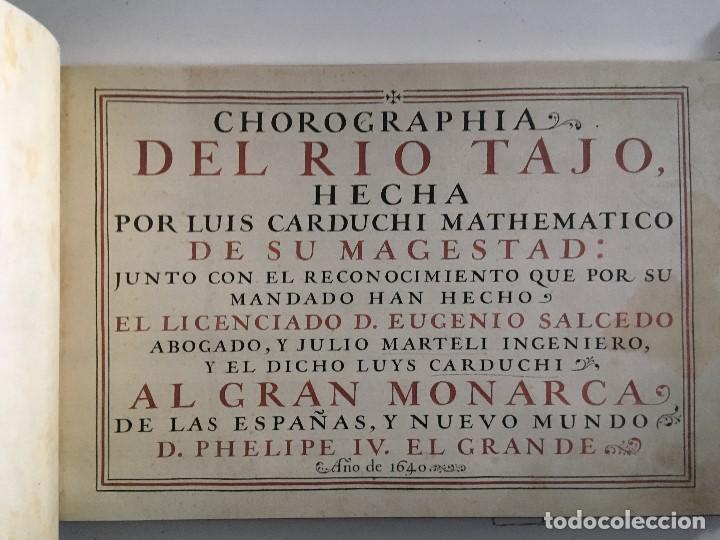 Libros de segunda mano: Chorographia del Río Tajo . 2 Volumenes. Reproduccion facsimilar del mms Chorographia del Río Tajo - Foto 8 - 148100258