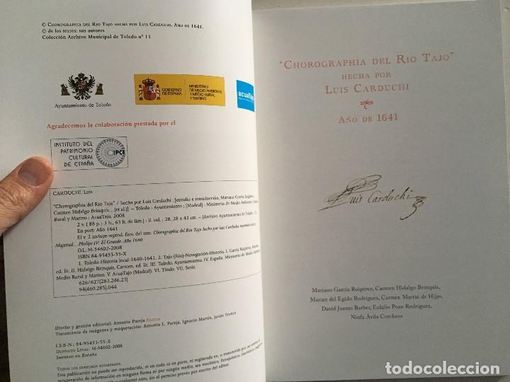 Libros de segunda mano: Chorographia del Río Tajo . 2 Volumenes. Reproduccion facsimilar del mms Chorographia del Río Tajo - Foto 11 - 148100258