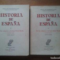 Libros de segunda mano: HISTORIA DE ESPAÑA, LUIS DE VALDEAVELLANO, DE LOS ORIGENES A LA BAJA EDAD MEDIA REVISTA DE OCCIDENTE. Lote 148109546