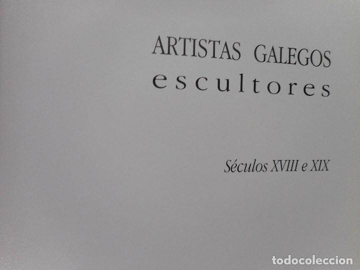 Libros de segunda mano: Artistas galegos.Escultores. Séculos XVIII e XIX Y92059 - Foto 2 - 148156978