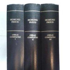 Libros de segunda mano: OBRAS COMPLETAS I II Y III 2006 SIGMUND FREUD RBA BIBLIOTECA DE PSICOANÁLISIS. Lote 148159818