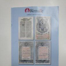 Libros de segunda mano: EL REMATE SUBASTAS. LIBROS Y MANUSCRITOS. SUBASTA JUEVES 24 DE ENERO 2019. TDKR36. Lote 148160494