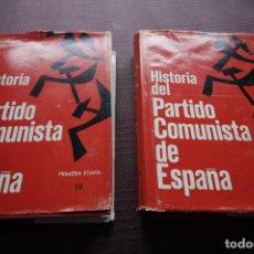 Libros de segunda mano: HISTORIA DEL PARTIDO COMUNISTA DE ESPAÑA, PRIMERA ETAPA - EDUARDO COMÍN COLOMER (2 TOMOS). Lote 148169390