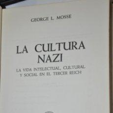 Libros de segunda mano: LA CULTURA NAZI, GEORGE L.MOSSE, VER TARIFAS ECONOMICAS ENVIOS. Lote 148182246