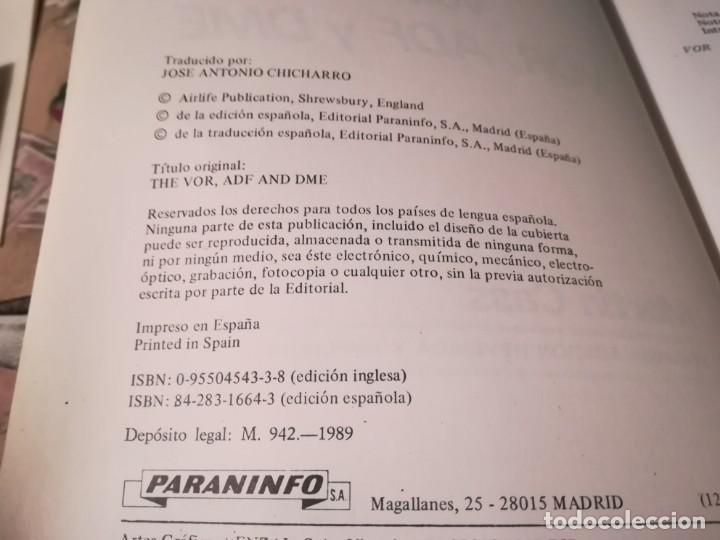 Libros de segunda mano: Volando con VOR, ADF y DME - Martin Cass - Paraninfo 1989 - Foto 6 - 175345639