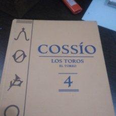 Libros de segunda mano: COSSIO, LOS TOROS N4 ESPASA. Lote 148247218