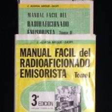 Libros de segunda mano - Manual facil del radioaficionado emisorista,Tomo I y II,ediciones CEDEL,año 1981. - 148364044