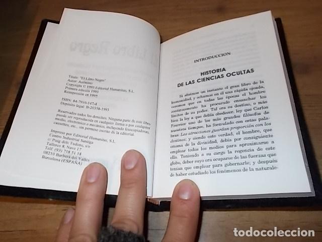 Libros de segunda mano: EL LIBRO NEGRO. ADMIRABLES SECRETOS, RECETAS, TALISMANES.CIENCIAS OCULTAS. ASTROLOGÍA... 1995. FOTOS - Foto 4 - 148505426