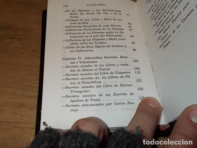 Libros de segunda mano: EL LIBRO NEGRO. ADMIRABLES SECRETOS, RECETAS, TALISMANES.CIENCIAS OCULTAS. ASTROLOGÍA... 1995. FOTOS - Foto 14 - 148505426