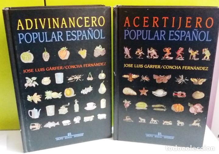 ADIVINANCERO POPULAR ESPAÑOL ; ACERTIJERO POPULAR ESPAÑOL (Libros de Segunda Mano - Bellas artes, ocio y coleccionismo - Otros)