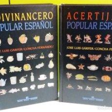 Libros de segunda mano: ADIVINANCERO POPULAR ESPAÑOL ; ACERTIJERO POPULAR ESPAÑOL. Lote 148525578