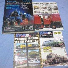 Livres d'occasion: * LOTE 4 LIBRO REVISTA CATALOGO DE TRENES O FERROCARRIL, TREN. ZX. Lote 148538842