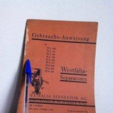 Livros em segunda mão: WESTFALIA. CATALOGO ALEMÁN 1938. Lote 148548669